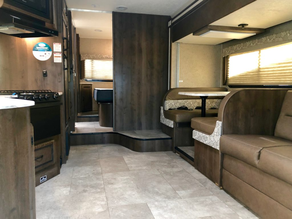 Standard Gas powered Class C RV interior