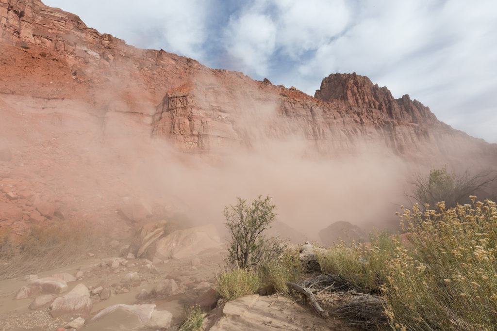 Dust in Paria Canyon Utah