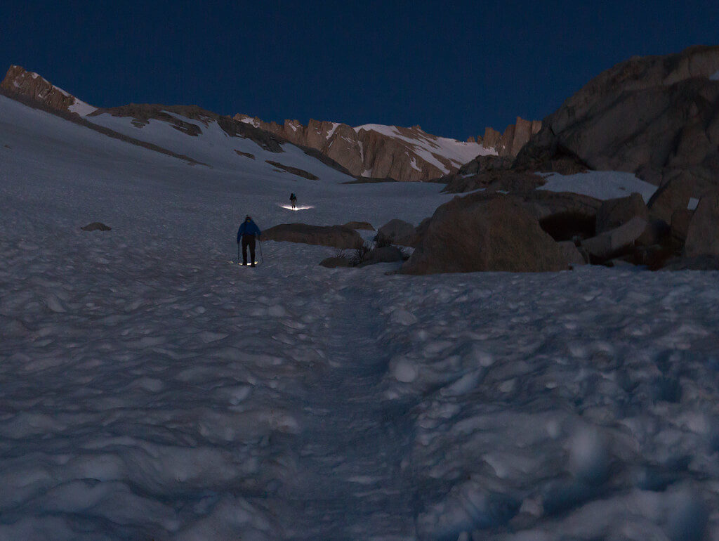 Early Morning Hike of Mt Whitney in Sequoia National Park