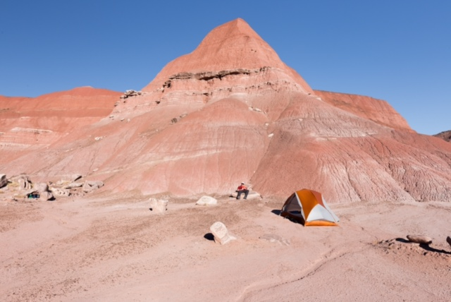 Camping in Painted Desert of Petrified Forest National Park