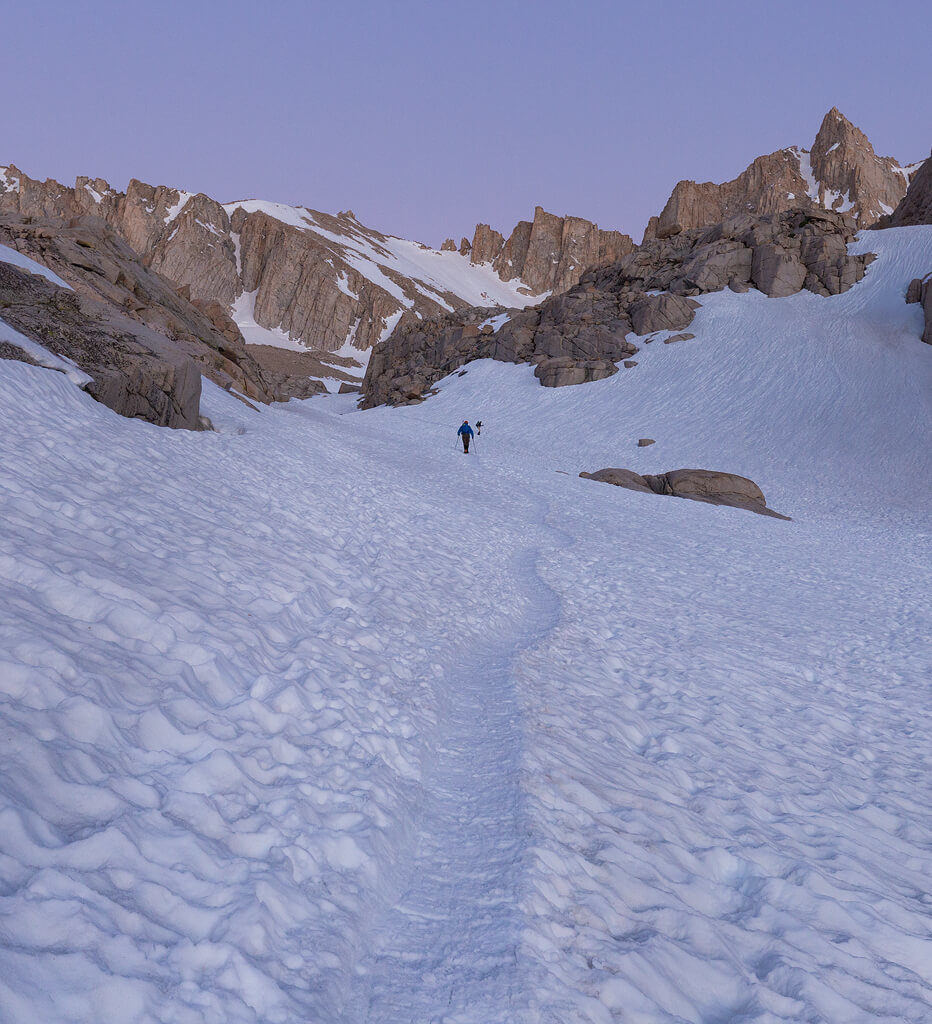 Coming Down Mount Whitney in Sequoia National Park
