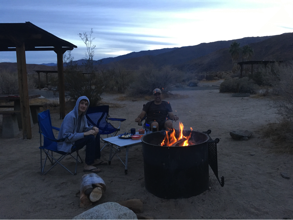 Campsite Fire Borrego Palm Canyon State Park