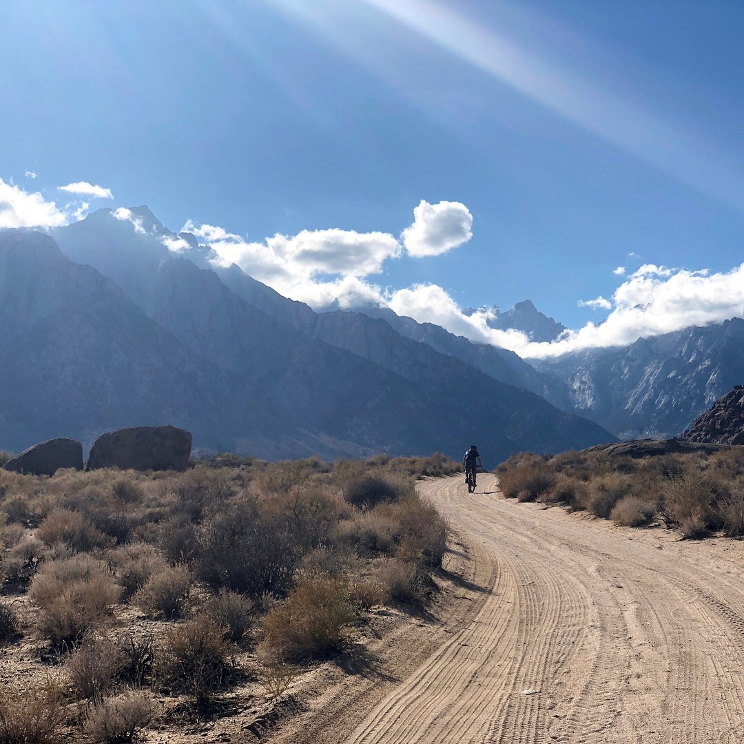 Cycling around the hills under Mount Whitney