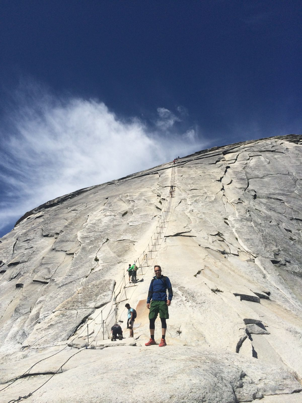 The foot of the Half Dome Cable Climb