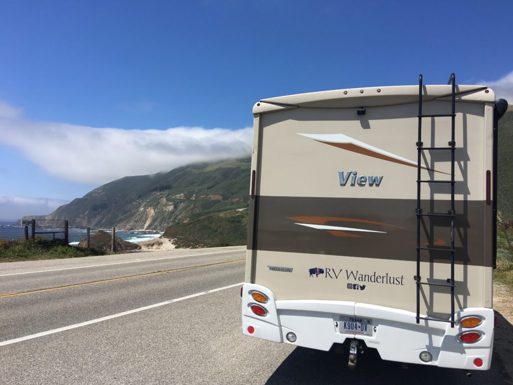 Driving an RV Along State Route 1 Through Big Sur